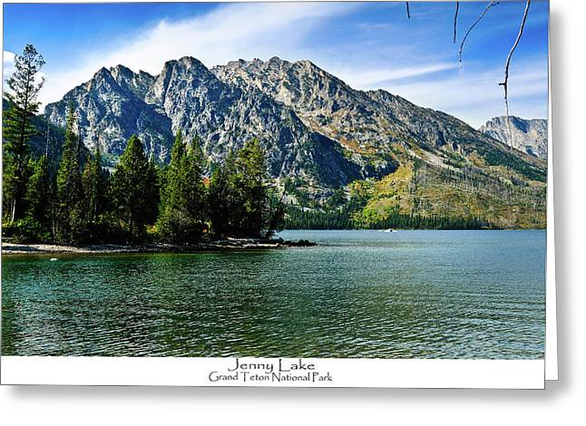Tetons Greeting Cards - Jenny Lake Greeting Card by Greg Norrell
