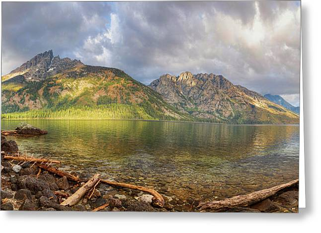 Jenny Lake Panorama View Greeting Card