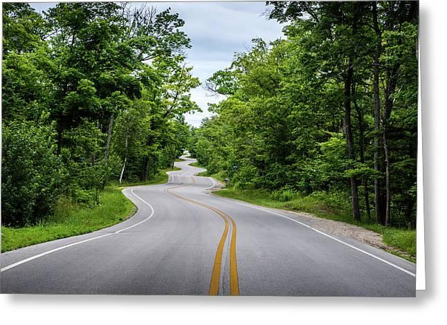 Jens Jensen's Winding Road Greeting Card