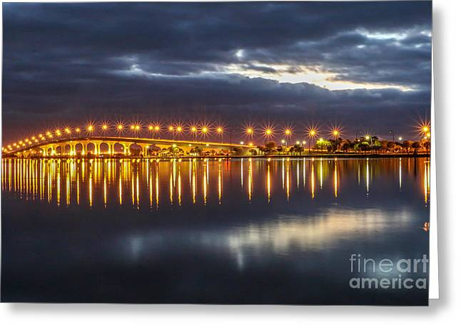 Jensen Beach Causeway #5 Greeting Card by Tom Claud