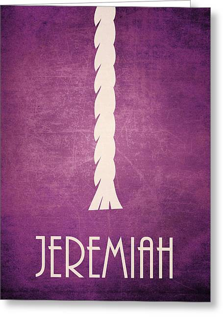 Jeremiah Icon Bible Minimal Art Greeting Card by Brett Pfister