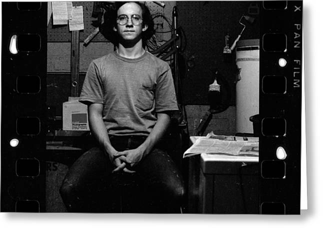 Self Portrait, In Darkroom, 1972 Greeting Card