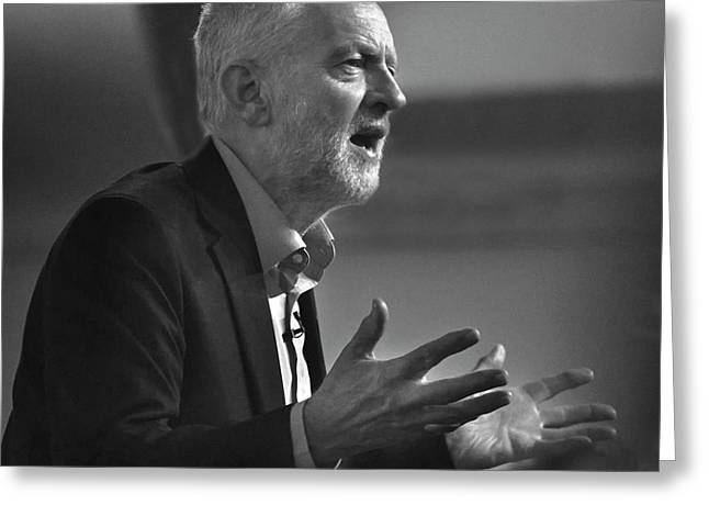 Jeremy Corbyn Greeting Card by Linsey Williams