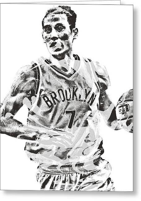 Jeremy Lin Brooklyn Nets Pixel Art 1 Greeting Card