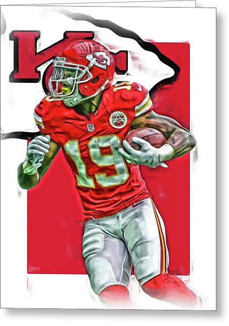 Jeremy Maclin Kansas City Chiefs Oil Art Greeting Card