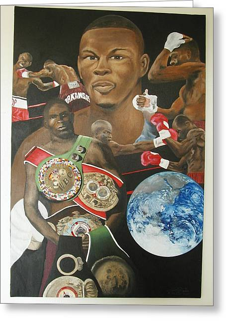 Jermain Taylor Montage Greeting Card by Angelo Thomas