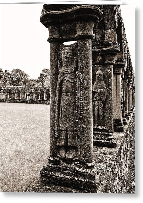 Jerpoint Abbey Cloister Stone Figures Greeting Card