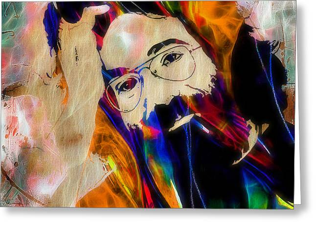 Jerry Garcia Collection Greeting Card by Marvin Blaine