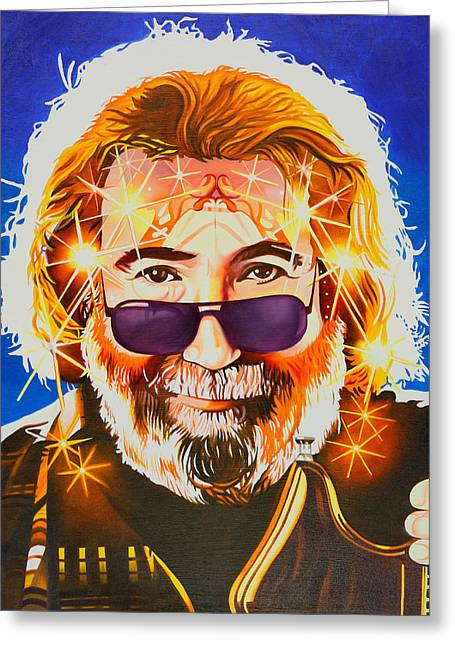 Jerry Garcia-dark Star Greeting Card by Joshua Morton