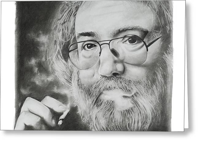 Jerry Garcia Greeting Card by Don Medina