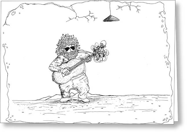 Player Drawings Greeting Cards - Jerry Garcia Greeting Card by Michael Mooney