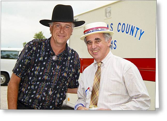 Jerry Jeff Walker And S. David Freeman Greeting Card by Marilyn Hunt