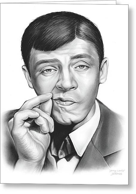 Jerry Lewis Greeting Card by Greg Joens