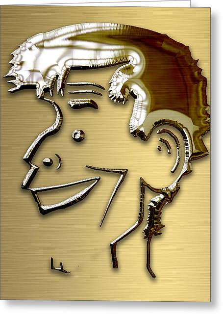 Greeting Card featuring the mixed media Jerry Lewis Tribute by Marvin Blaine