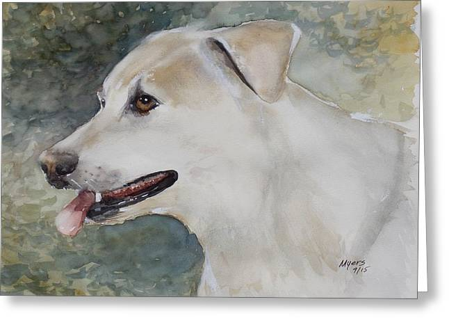 Jerry, Watercolor Painting Greeting Card by David K Myers