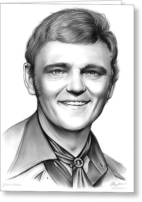 Jerry Reed Greeting Card by Greg Joens