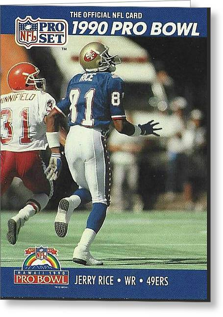 Jerry Rice 49ers Receiver Greeting Card
