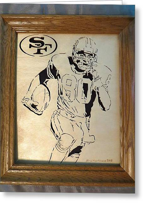 Jerry Rice Greeting Card by Kris Martinson