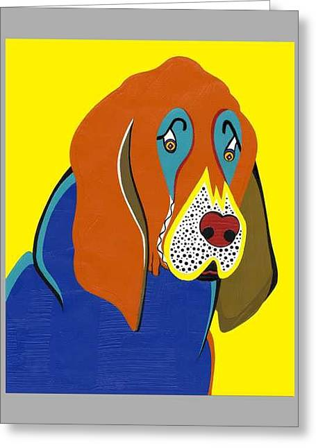 Jerry The Bloodhound   Greeting Card