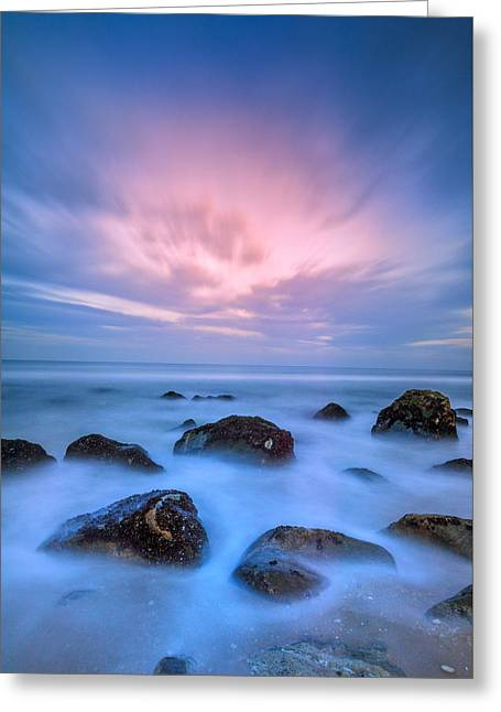Jersey Afterglow Greeting Card by Rick Berk