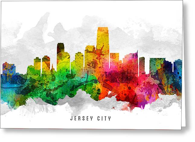 Jersey City New Jersey Cityscape 12 Greeting Card