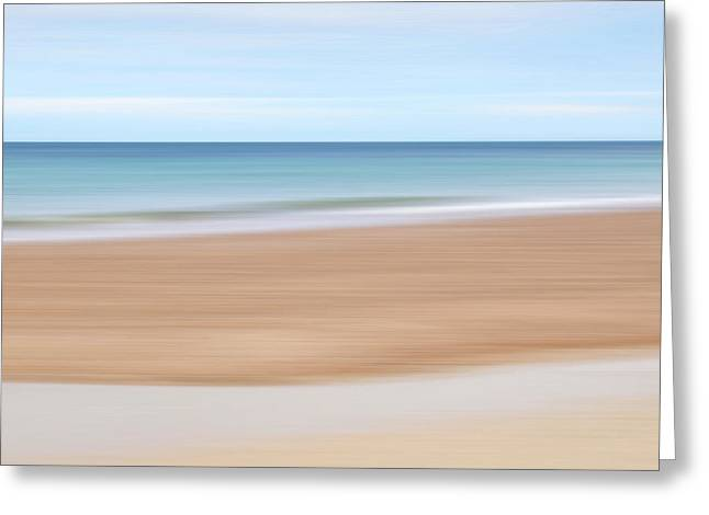Jersey Coast Seascape Abstract Greeting Card by Gill Billington