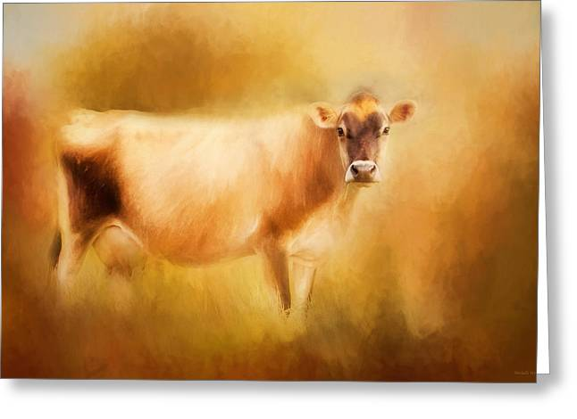 Jersey Cow  Greeting Card by Michelle Wrighton
