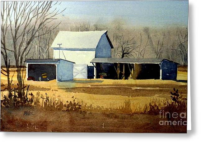 Jersey Farm Greeting Card by Donald Maier