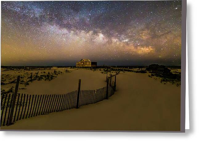 Jersey Shore Starry Skies And Milky Way Greeting Card