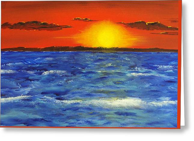 Jersey Shore Sunset Greeting Card