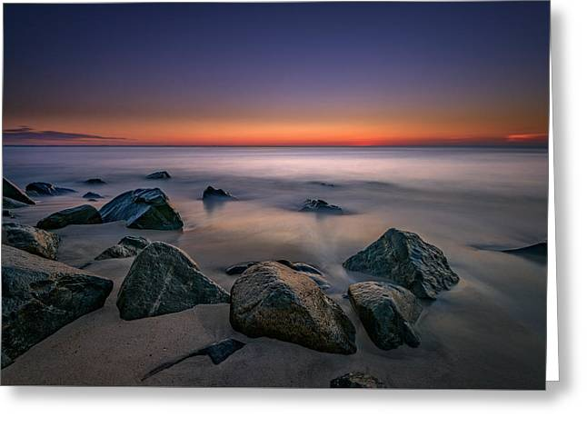Jersey Shore Tranquility Greeting Card by Rick Berk