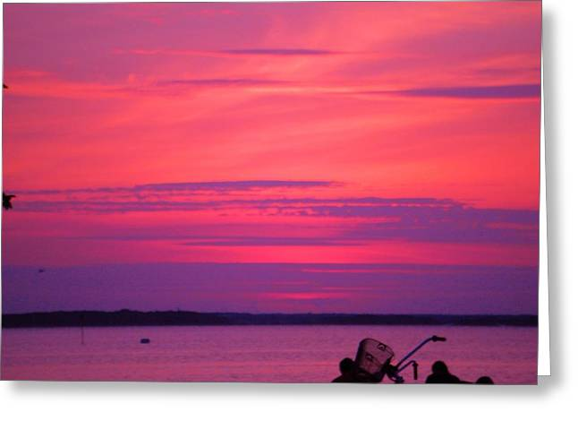 Greeting Card featuring the photograph Jersey Sunset by Susan Carella