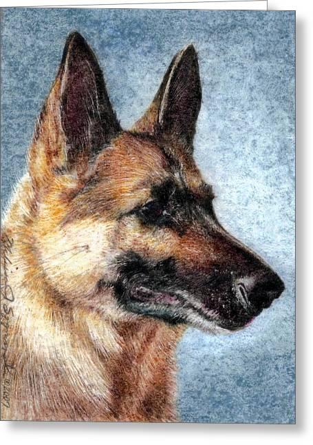 Jersey The German Shepherd Greeting Card by Melissa J Szymanski
