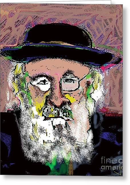 Jerusalem Man No. 2 Greeting Card by Joyce Goldin