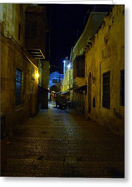 Greeting Card featuring the photograph Jerusalem Of Copper 3 by Dubi Roman