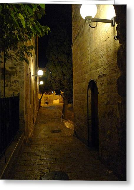 Greeting Card featuring the photograph Jerusalem Of Copper 4 by Dubi Roman
