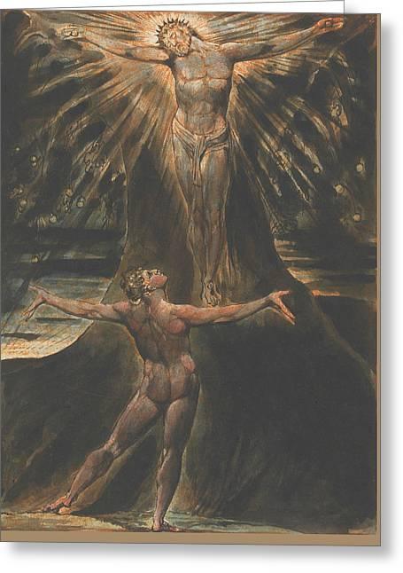 Jerusalem, Plate 76 Greeting Card by William Blake