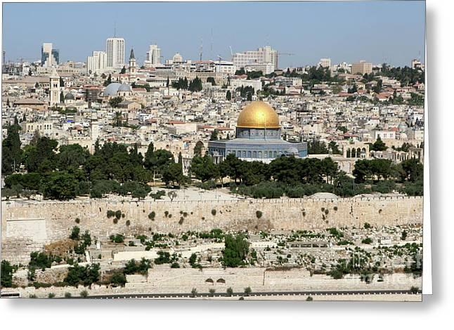 Jerusalem Skyline Greeting Card
