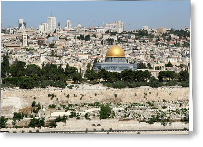Jerusalem Skyline Greeting Card