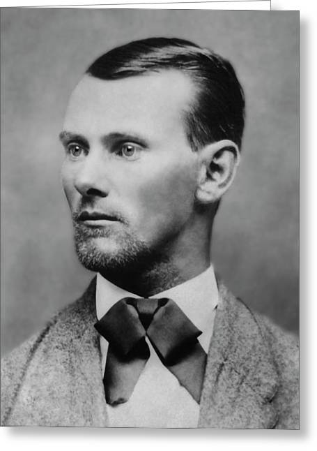 Jesse James -- American Outlaw Greeting Card