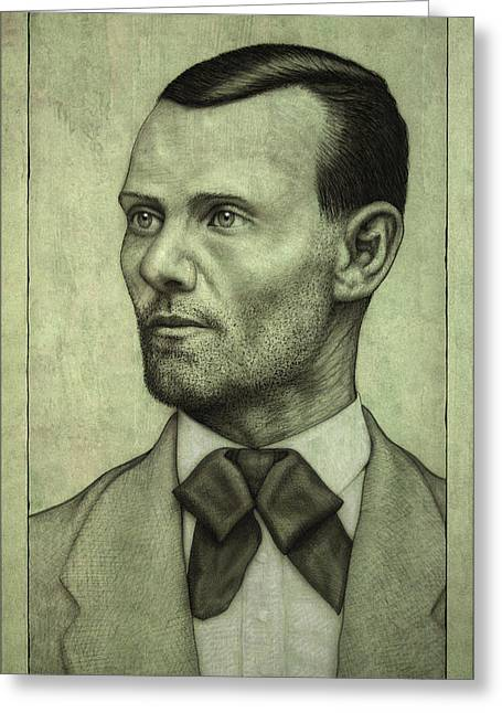Jesse James Greeting Card by James W Johnson