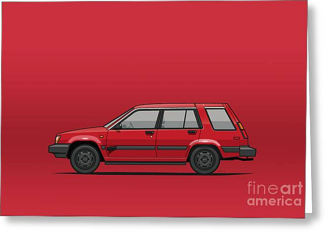 Jesse Pinkman's Crappy Red Toyota Tercel Sr5 4wd Wagon Al25 Greeting Card by Monkey Crisis On Mars