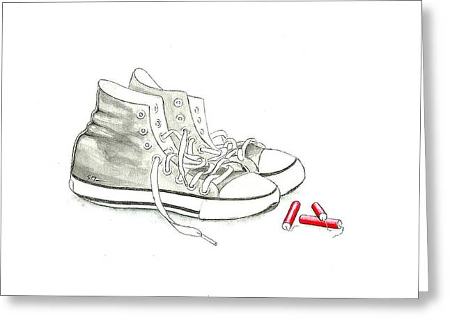 Jesse's Shoes Greeting Card by Scott Manning