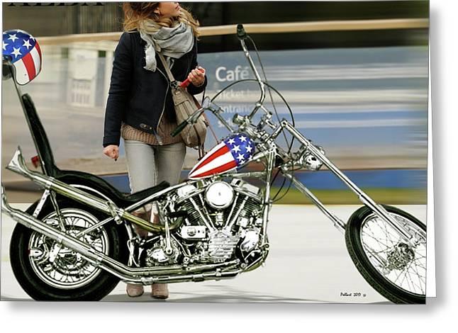Jessica Alba, Captain America, Easy Rider Greeting Card