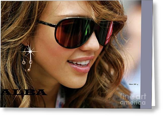 Jessica Alba, Cool Shades Greeting Card