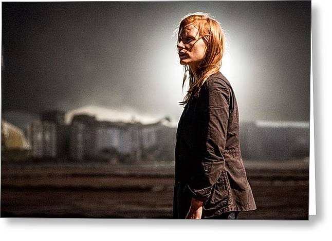 Jessica Chastain Zero Dark Thirty Publicity Photo 2012 Greeting Card by David Lee Guss