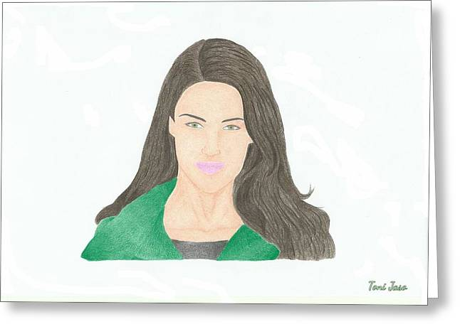 Jessica Lowndes Greeting Card by Toni Jaso
