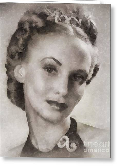 Jessica Tandy, Actress Greeting Card by John Springfield