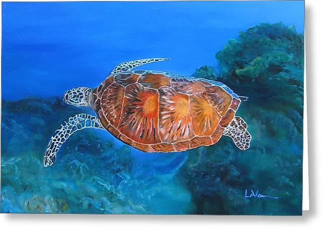 Jessie's Sea Turtle Greeting Card