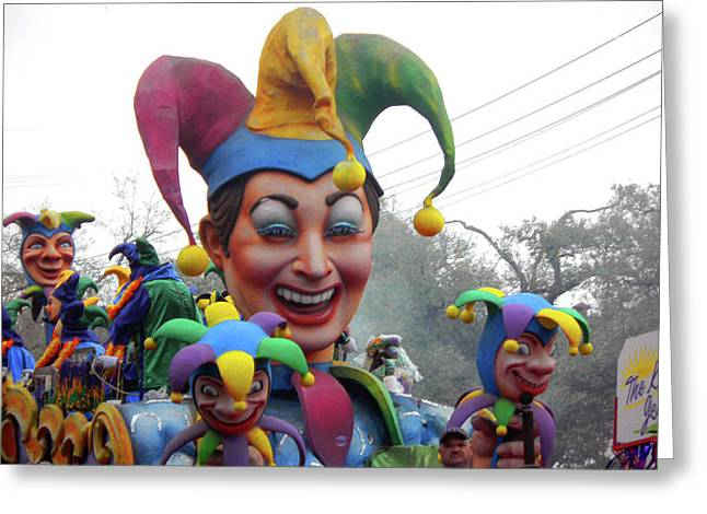 Jesters On Parade Greeting Card